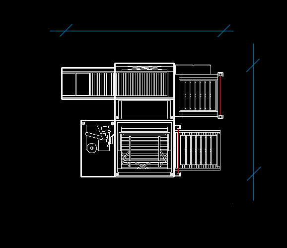palletizer footprint diagram