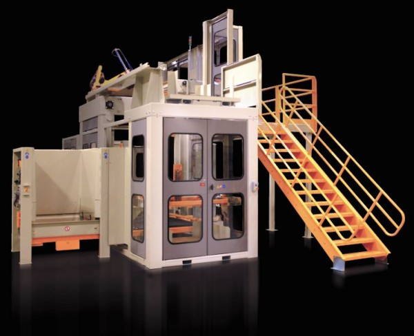 high upper level infeed palletizer