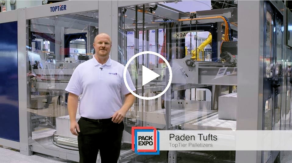 low infeed palletizer at packexpo